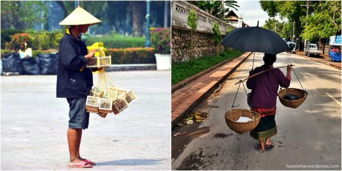 As pessoas no Laos
