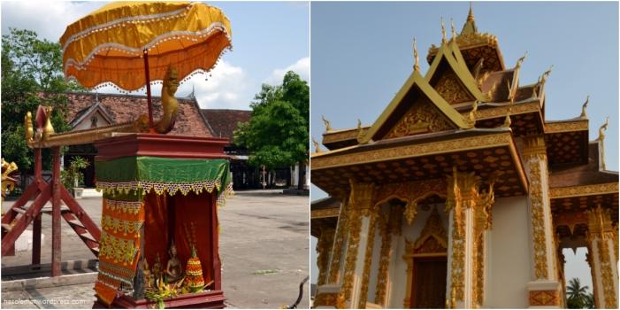 Os templos no Laos